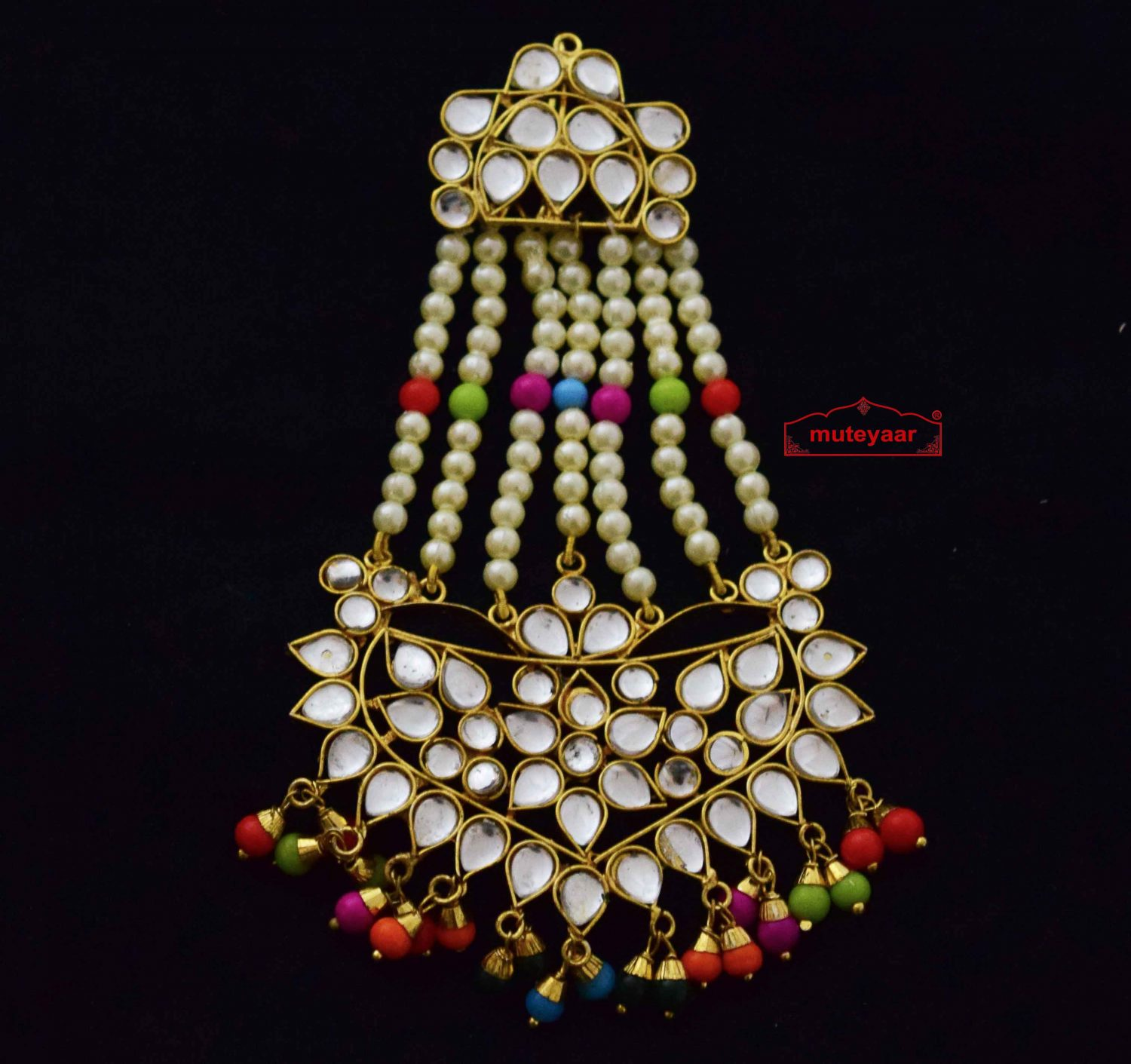 Kundan Passa Hair Accessory J0351 1