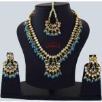 Firozi Kundan Tikka Earrings Necklace Set J0561