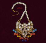 Multicolour Kundan Tikka Mang Teeka J0567