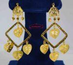 Golden Square Pipal Patti Earrings J0572