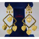 Golden Square Pipal Patti Earrings J0572