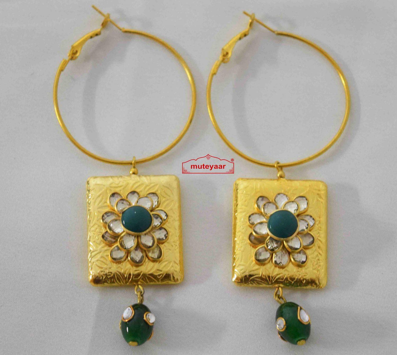 Kundan Jadau Designer Earrings J0574 1