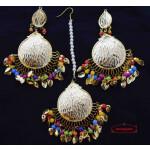 Mulit Colour Punjabi Tikka Earrings Set J0575