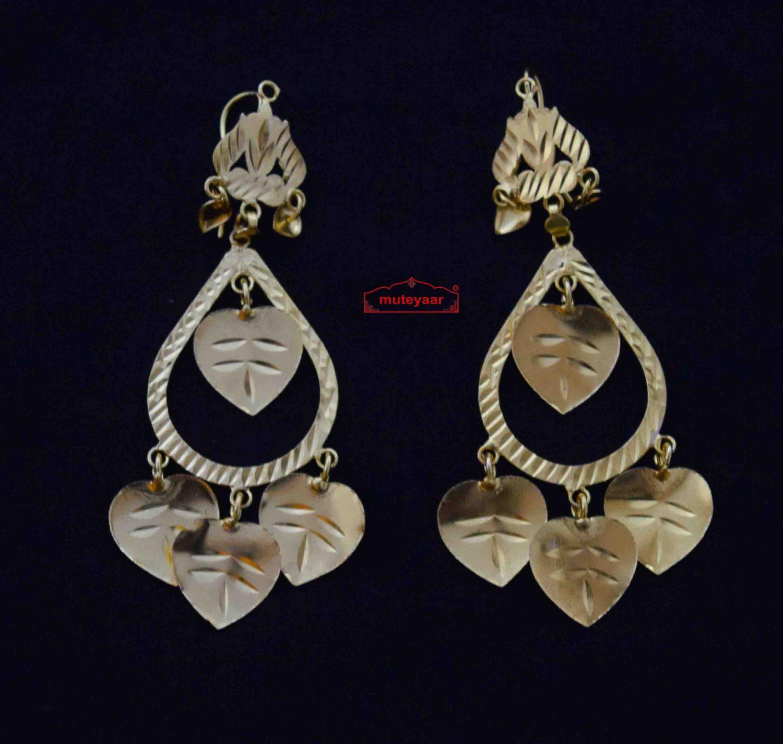 Designer Peepal Patti Earrings J0580 1