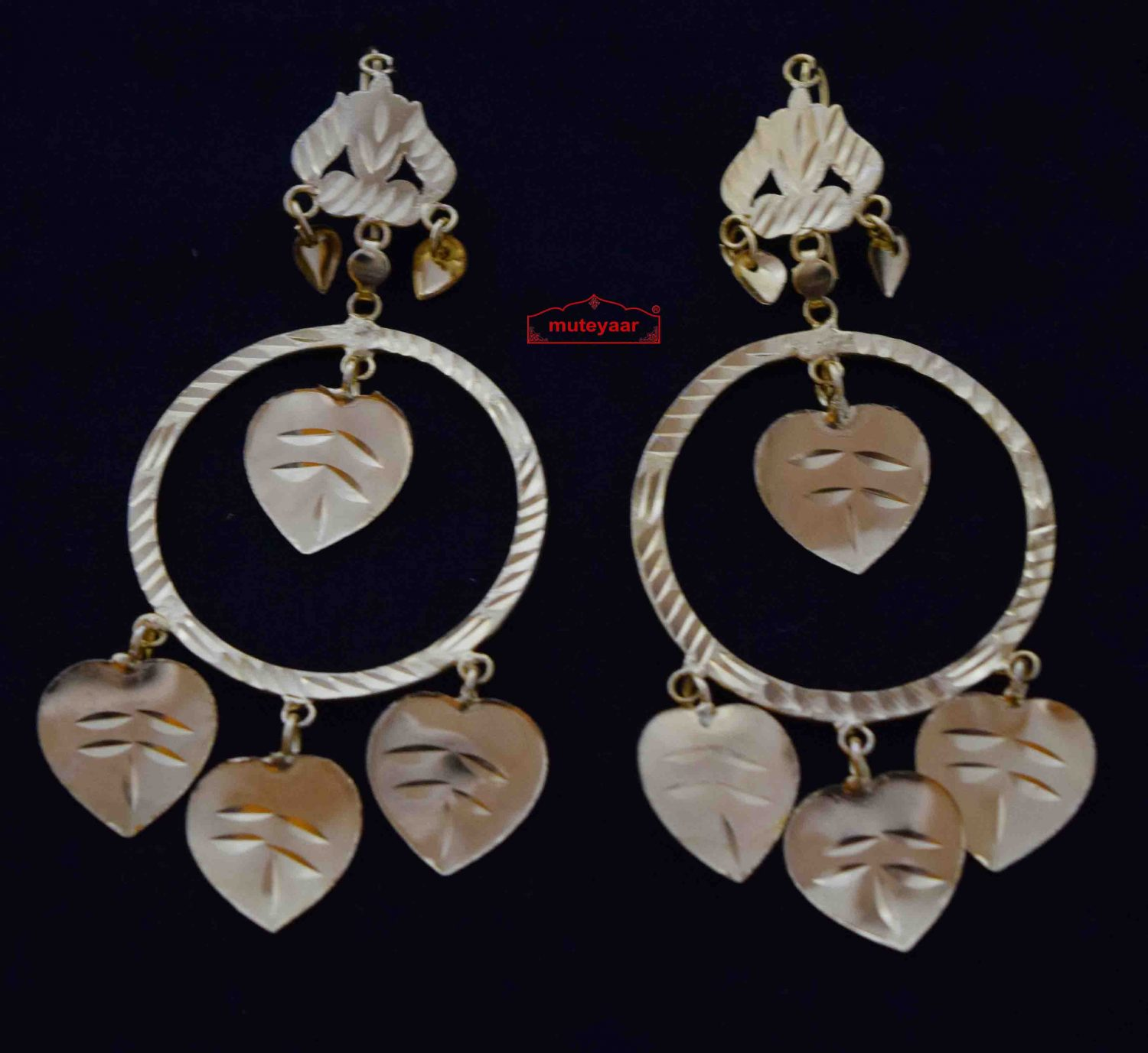 Punjabi Pipal Pati Earrings J0582 1