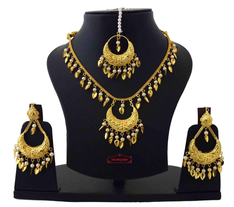 Pendant Chain Set with Tikka & Earrings J0586 1