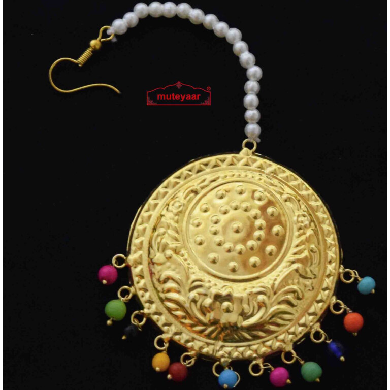 Big Tikka with Multicolour Beads J0587