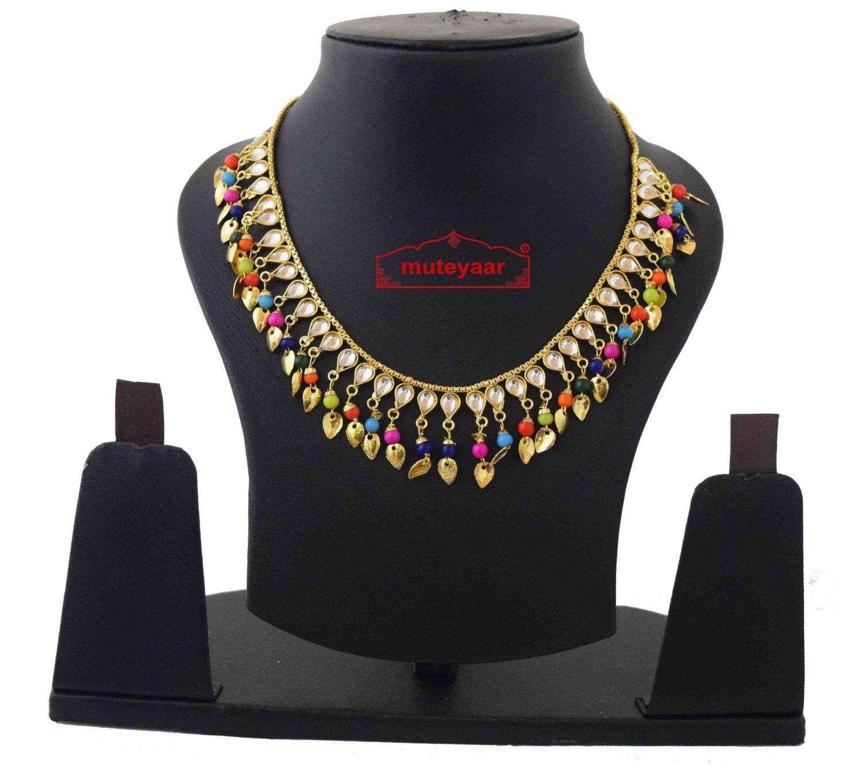 Kundan Chain with Multicolour Beads J0588 1