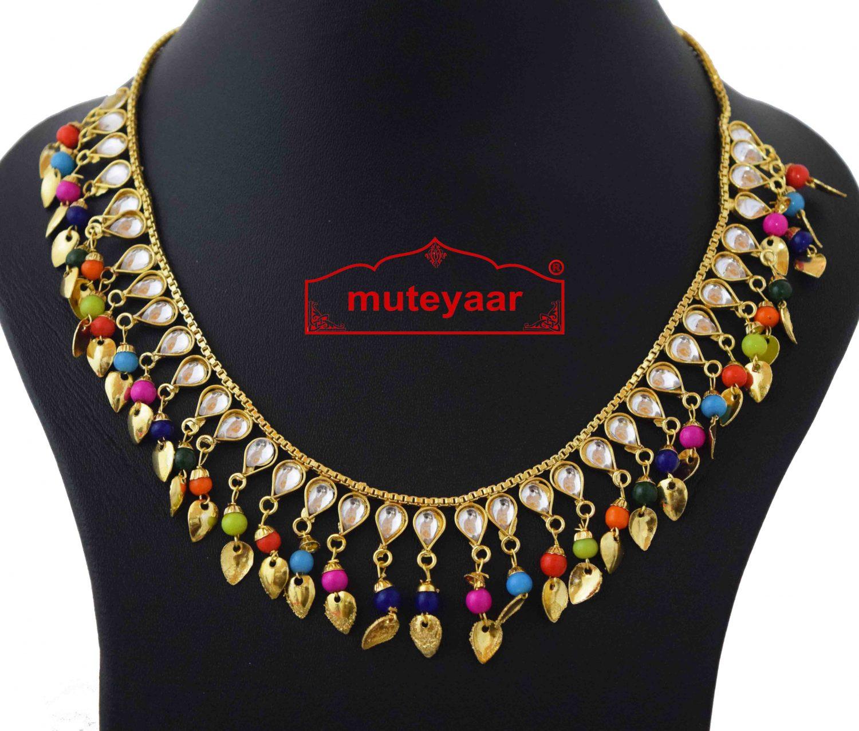 Kundan Chain with Multicolour Beads J0588 2