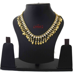 Kundan Chain with White Beads J0590