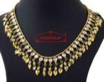 Kundan Chain with White Beads J0590