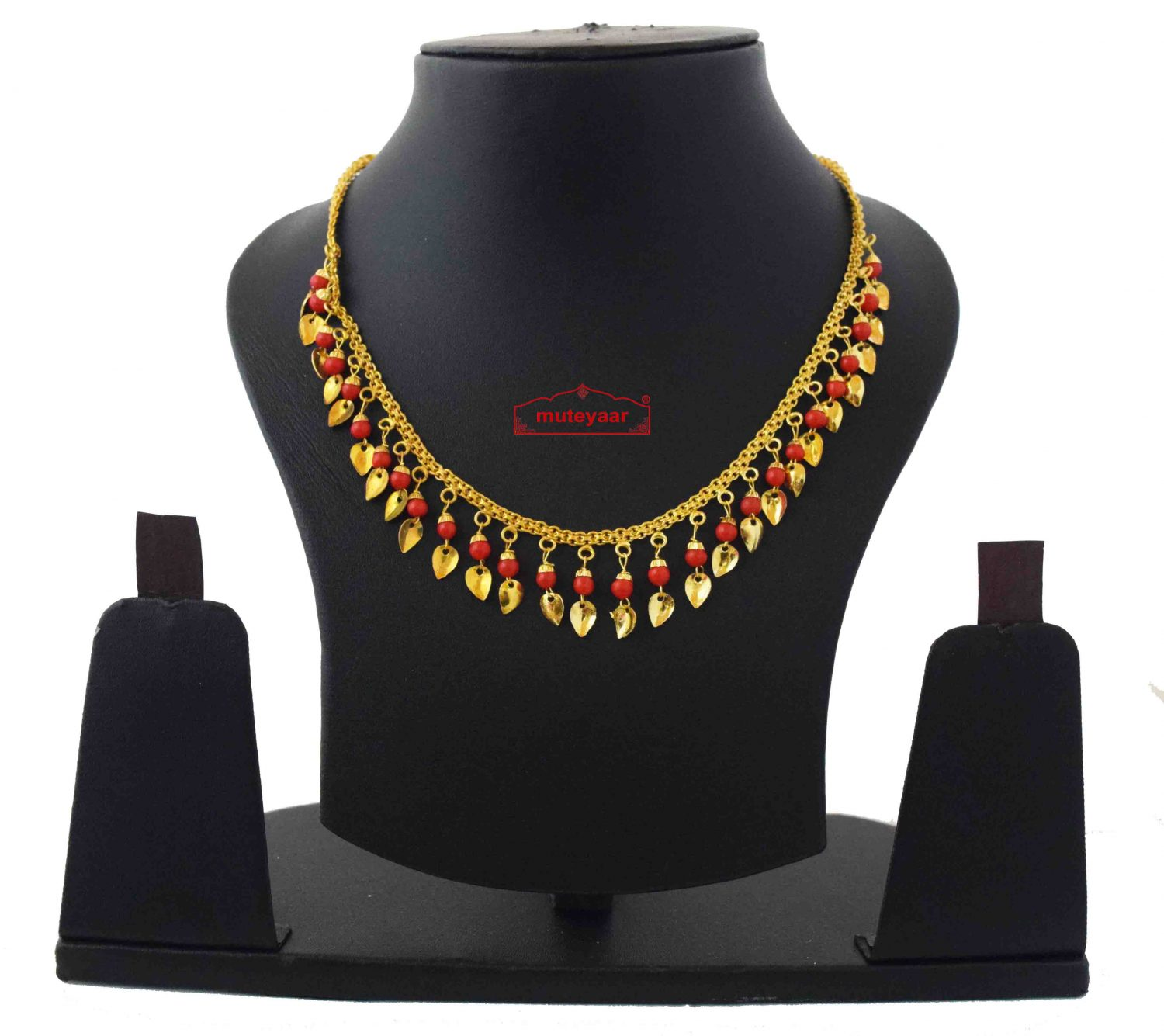 Chain with Red Beads J0592 1