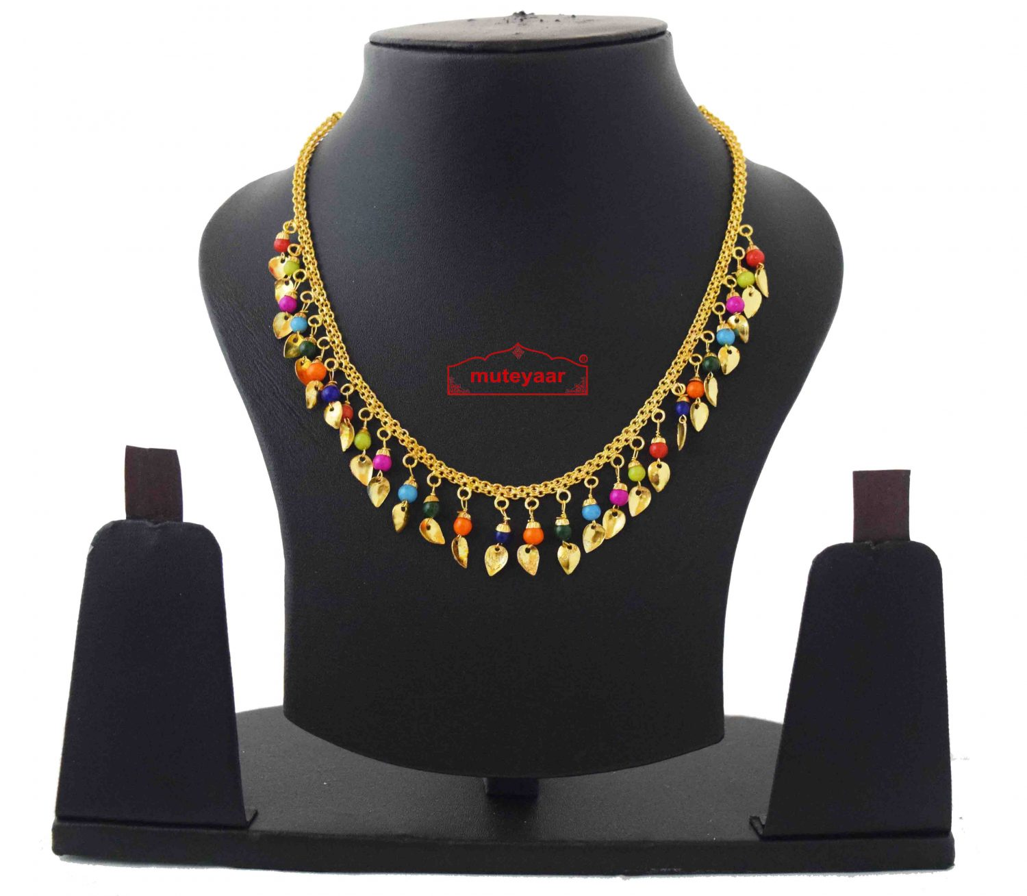 Chain with multicolour beads J0593 1