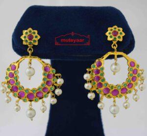 Round Jadau Earrings J2021