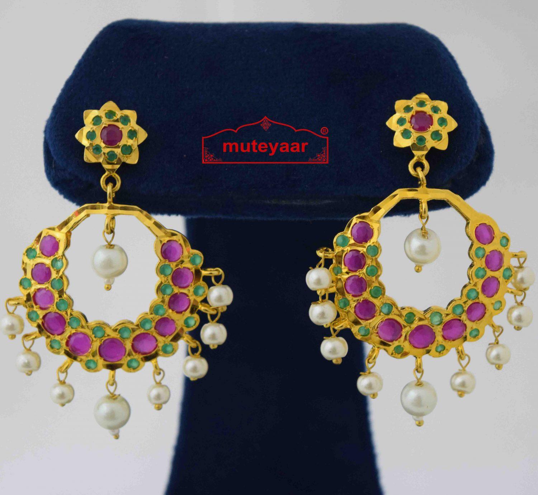 Round Jadau Earrings J2021 1