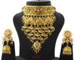 Rajasthani Rajputi Set Gold Plated Jadau Jewellery J4038