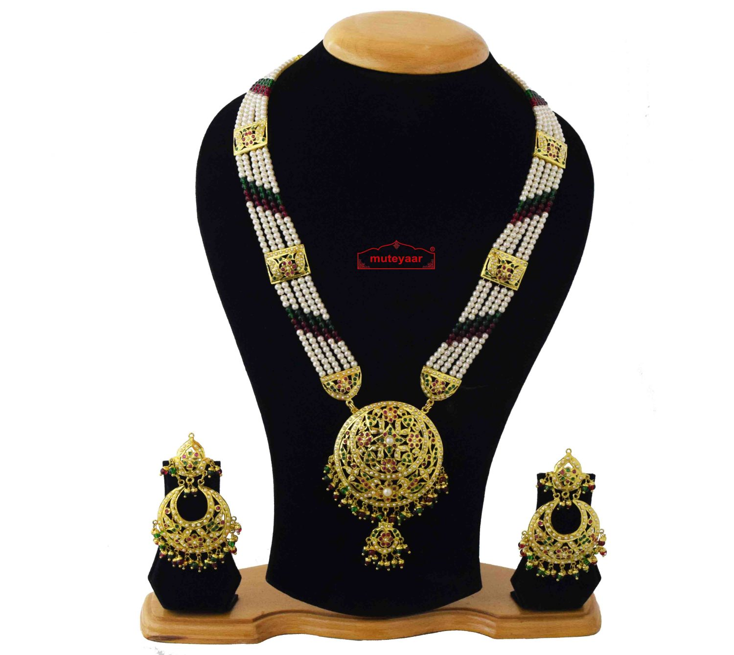 Ranihaar Jadau Bridal Jewellery Set J4041 1