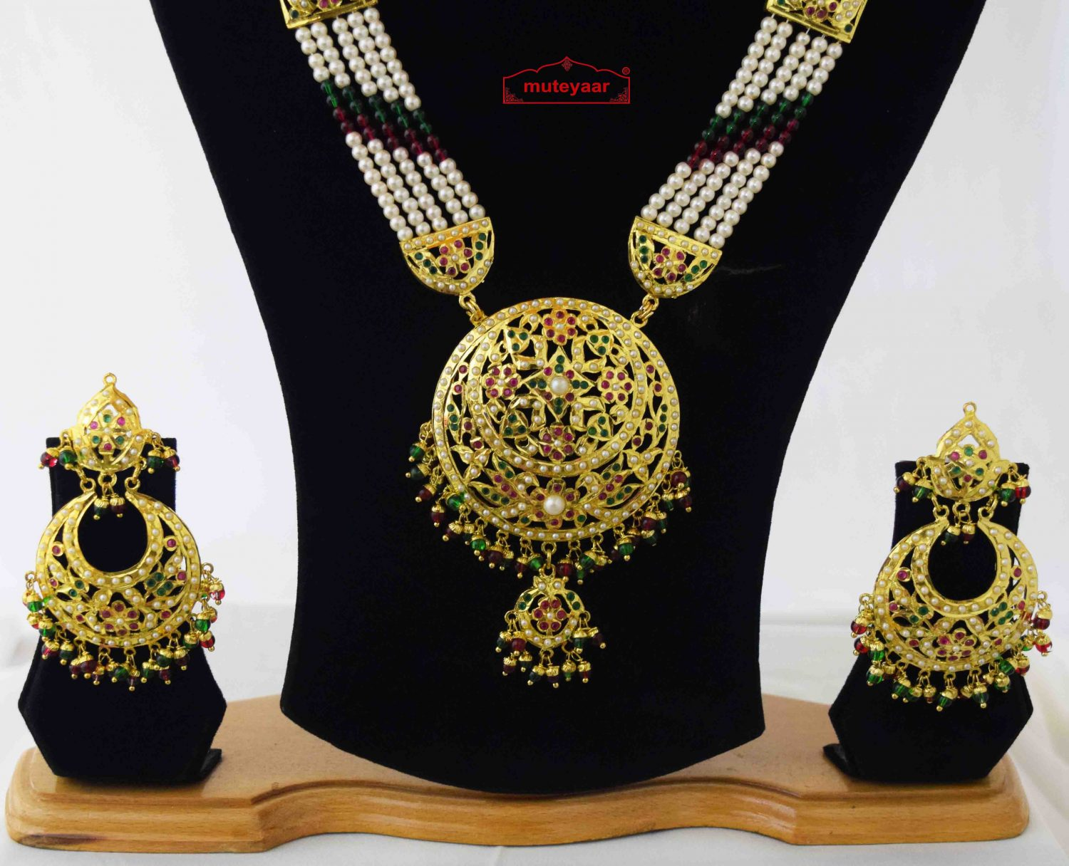 Ranihaar Jadau Bridal Jewellery Set J4041 2