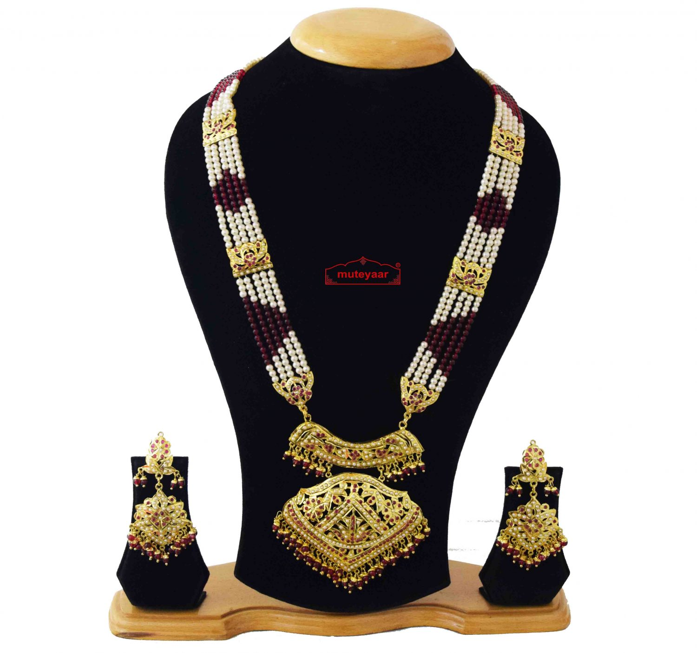 Queen's Necklace Jadau Wedding Jewellery Set J4043 1