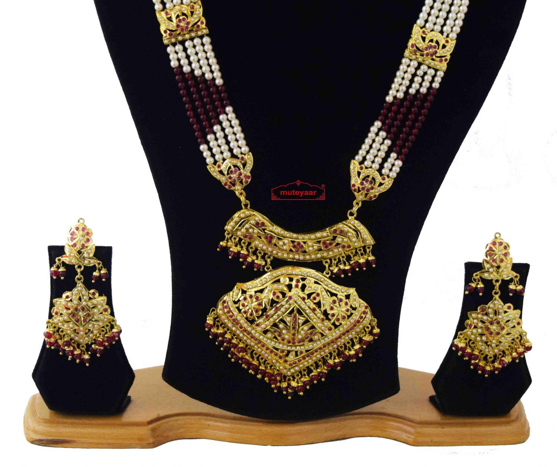 Queen's Necklace Jadau Wedding Jewellery Set J4043 2