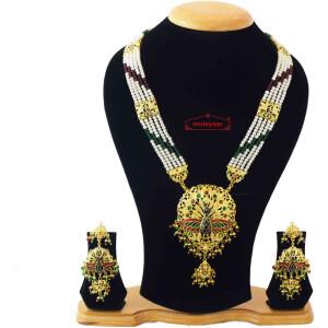 Morni Ranihaar Jadau Bridal Jewellery Set J4045
