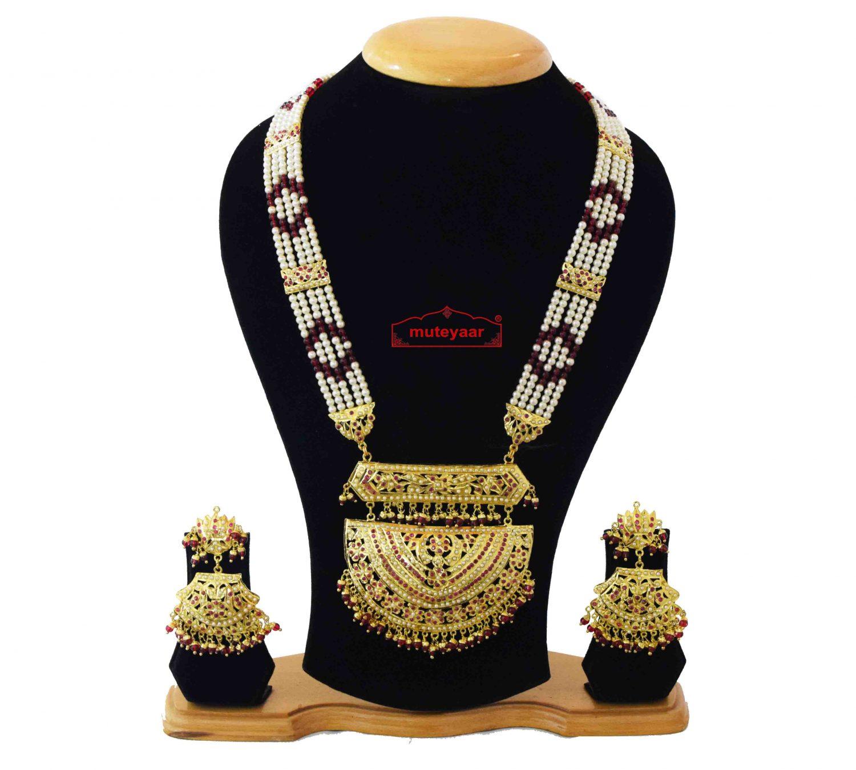 Wedding Jewellery Set Jadau Rani Haar J4046 1