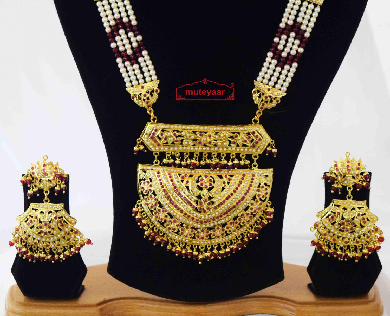 Wedding Jewellery Set Jadau Rani Haar J4046 2