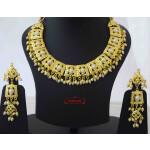 Gold Plated Jadau Collar Set J4049