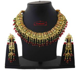 Bridal Jadau Collar Set J4055
