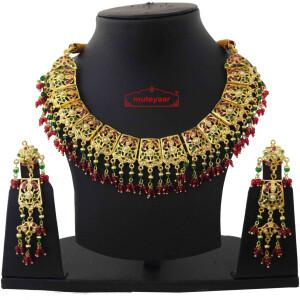 Bridal Jadau Collar Set J4055
