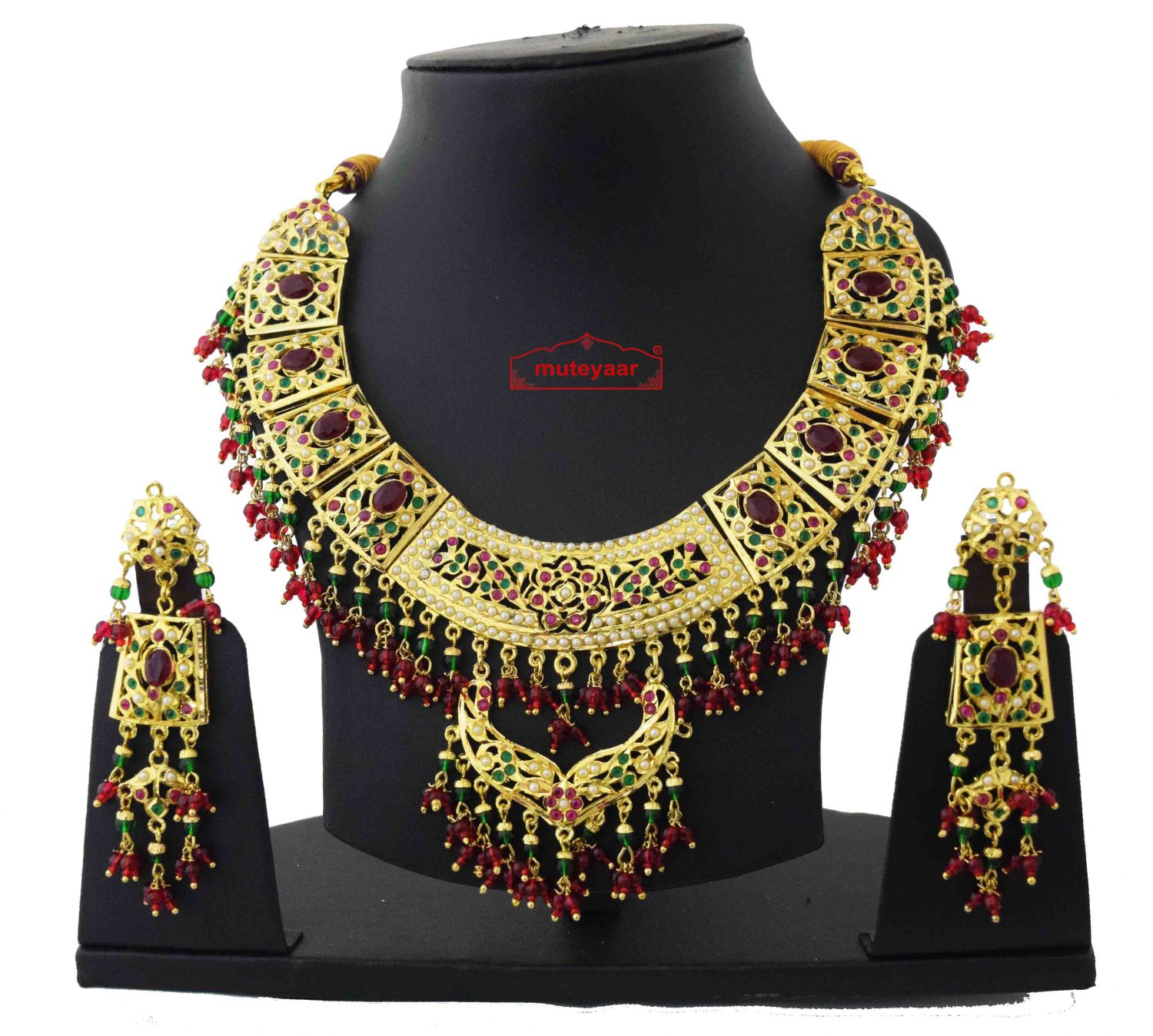 Collar Set Jadau Bridal Jewellery J4056 1