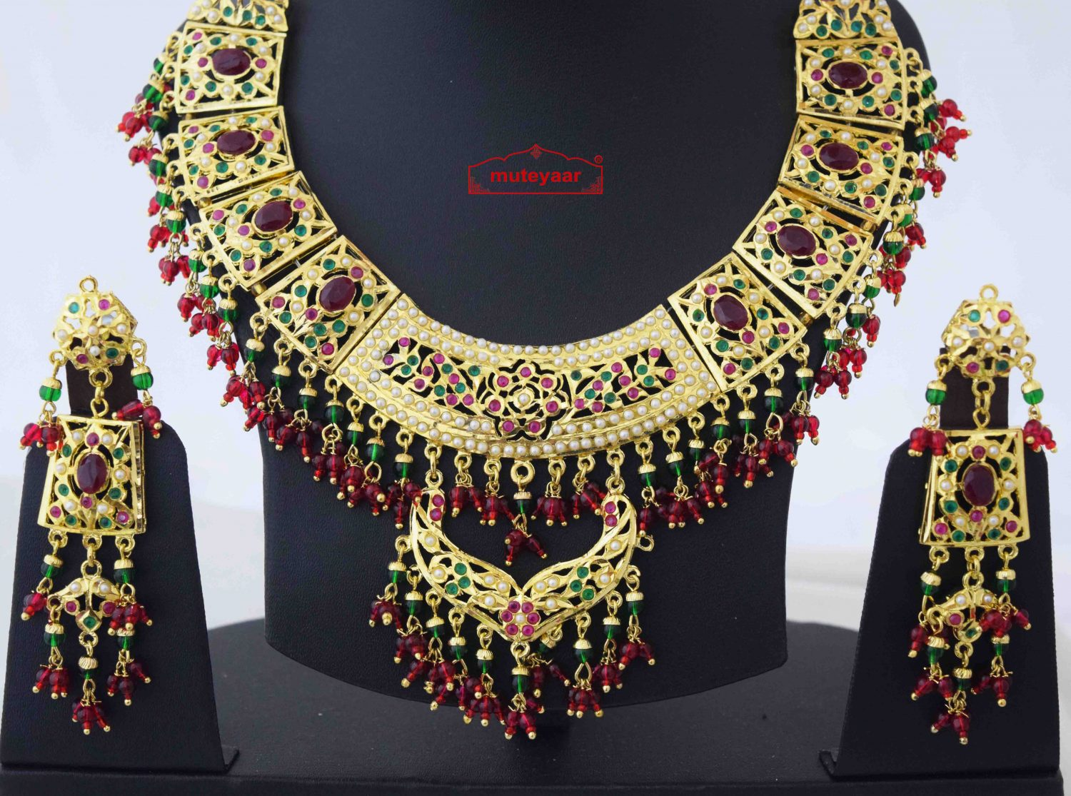 Collar Set Jadau Bridal Jewellery J4056 2