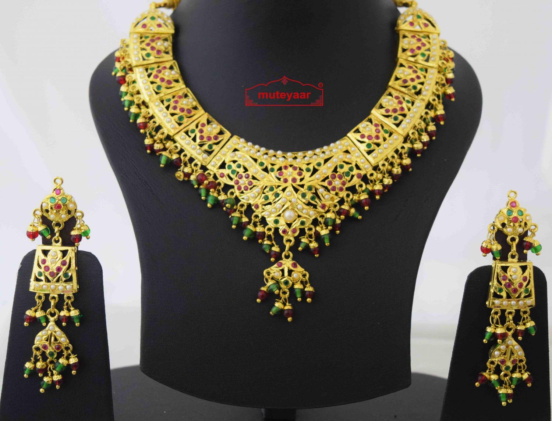 Wedding Jadau Collar Set J4057 2