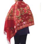 Maroon Kashmiri Stole Woollen Wrap C0488