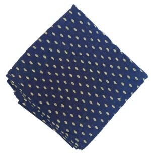 Navy Blue Cotton Suit with Golden Polka Print CJ030