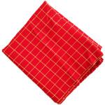 Red Check Design Suit Glazed Cotton Cutpiece CJ032