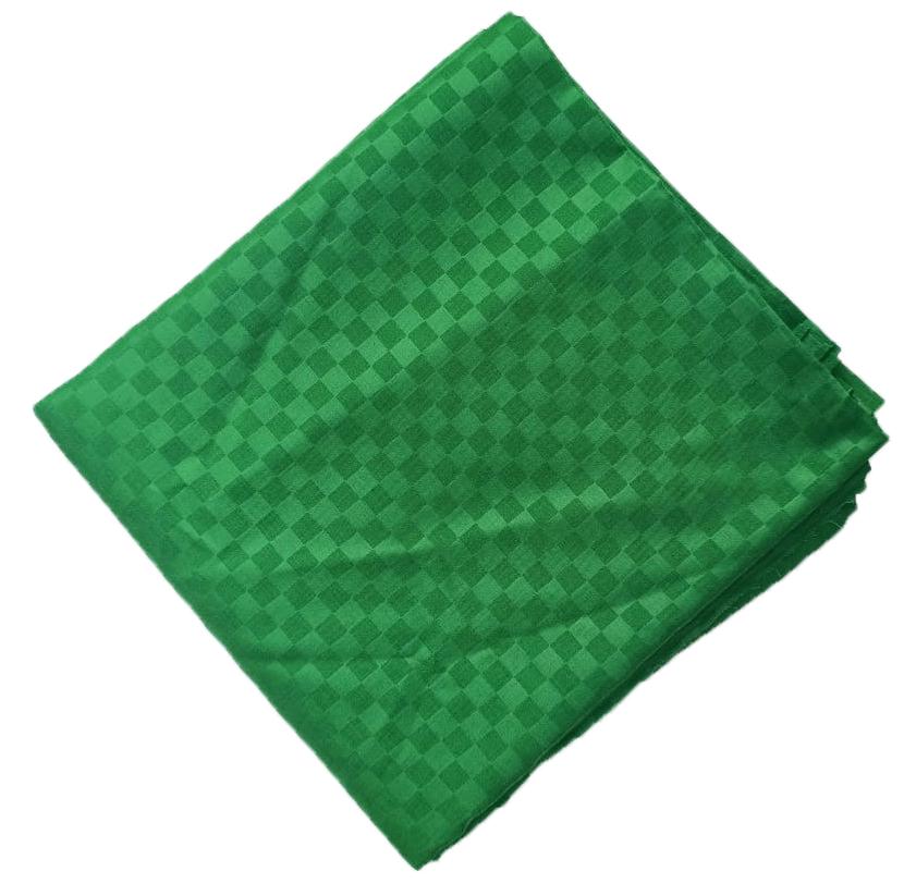 Green Chatai Print Cotton Suit Self Design 5 mtr Cutpiece CJ036 1