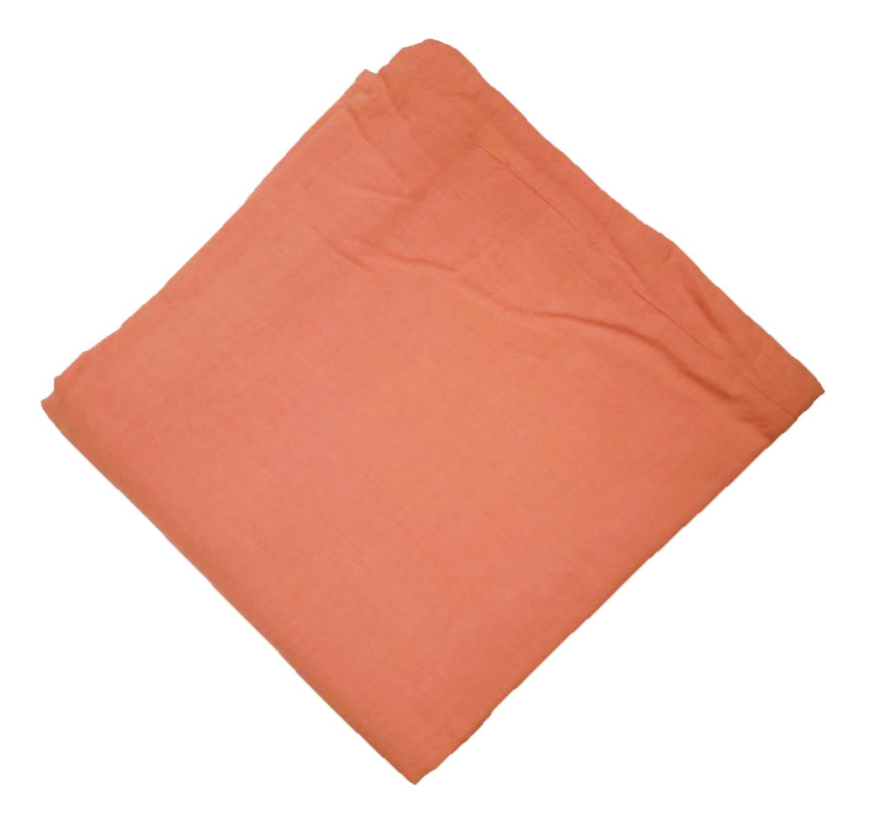 Peach Crush Cotton Dress Material Cutpiece CJ044 1