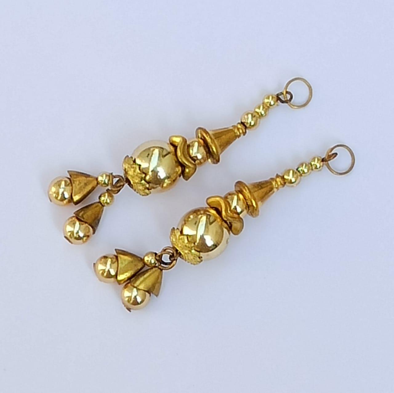 Golden Latkans Pair 2.5 Inch Long LK089 1