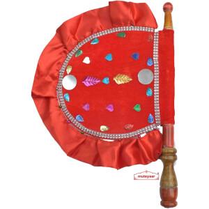 Red Punjabi Decorative Pakhi T0280