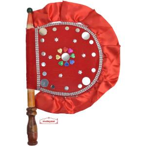Red Decorative Punjabi Pakhi T0281