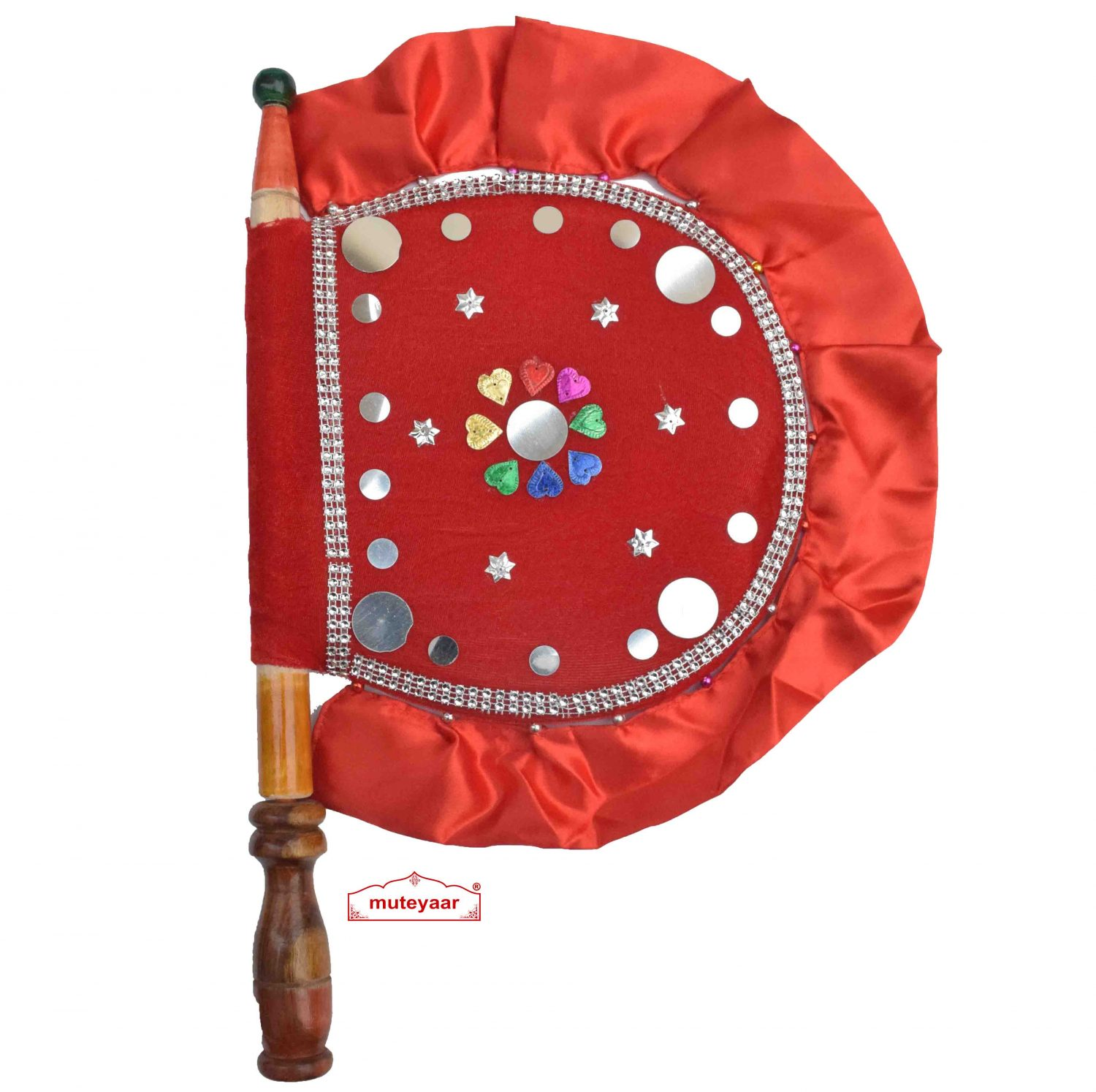 Red Decorative Punjabi Pakhi T0281 1