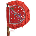 Red Decorative Hand Fan T0282