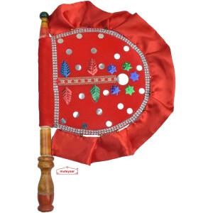 Punjabi Hand Fan for Decoration T0283
