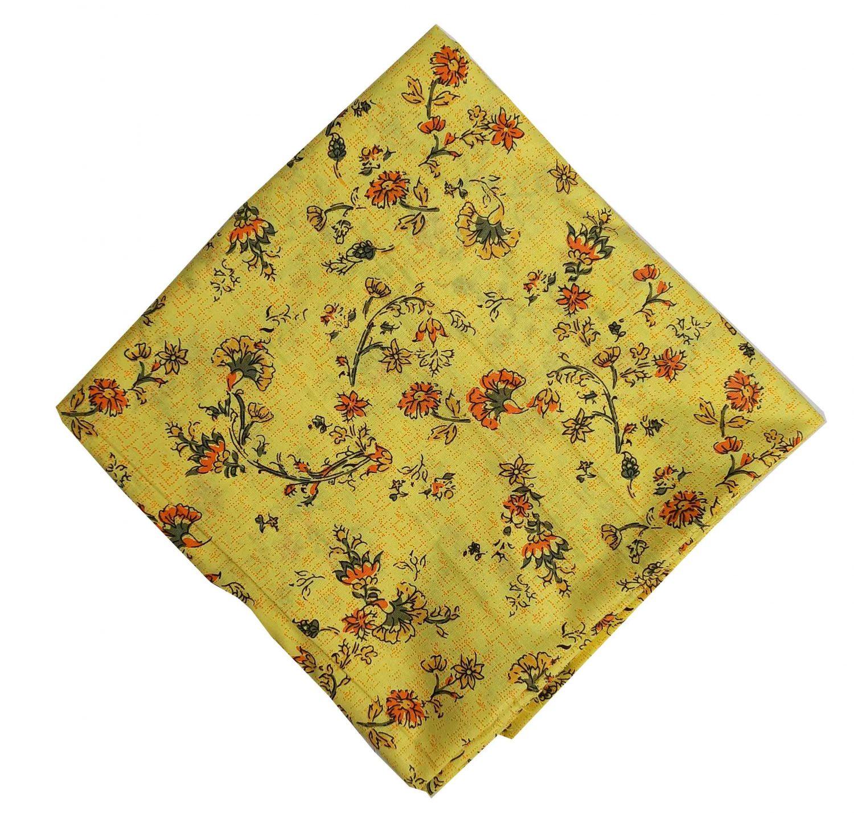 Yellow Printed Cotton Fabric PC559 1