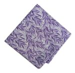 Purple White Printed Cotton Fabric PC561