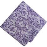 Purple White Printed Cotton Fabric PC561