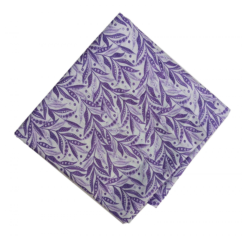 Purple White Printed Cotton Fabric PC561 1