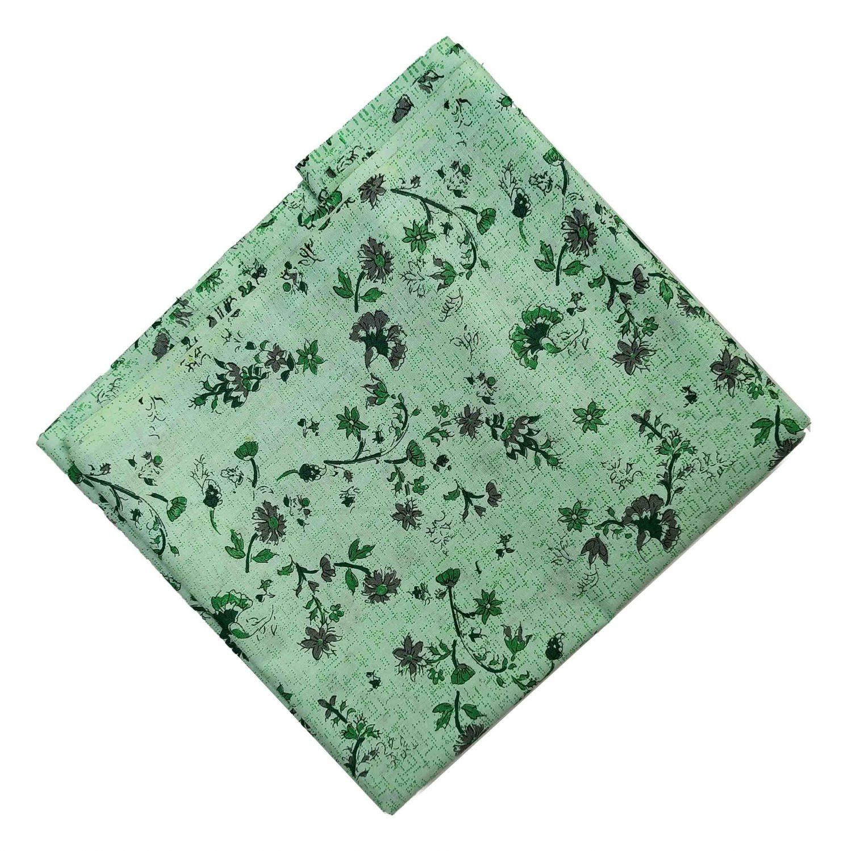 Light Green Print Cotton Fabric PC562 1