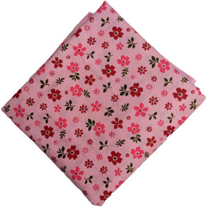 Pink Floral Print Cotton Fabric PC563